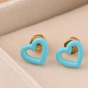 Marc Jacobs Blue Hollow Love Earrings